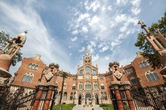 Szpitalny De Sant Pau, Barcelona, Hiszpania, Wrzesień 2016 Zdjęcie Stock