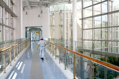 Szpitalny korytarz zdjęcia stock