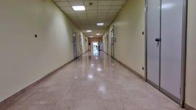 Szpitalny korytarza tło zdjęcie wideo