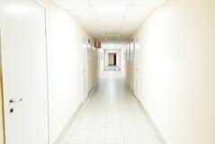 Szpitalny korytarza wnętrze bez chorob fotografia stock