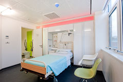 szpitalny nowożytny nad izbowym widok Obraz Stock