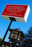 Szpitalny Przeciwawaryjny Signage zdjęcie royalty free