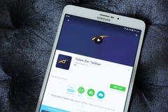 Szpon dla świergotu app zdjęcie stock