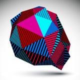 Szpotawy asymetryczny żywy element z równoległymi liniami kolorowy ilustracji