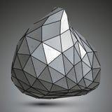 Szpotawy asymetryczny 3d abstrakcjonistyczny przedmiot, grayscale grafika royalty ilustracja