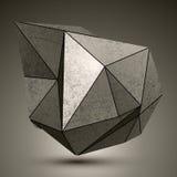 Szpotawy dimensional faseta brązu przedmiot, 3d projekta powikłany elem royalty ilustracja