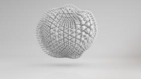 Szpotawy grono białe sfery 3D odpłaca się ilustracja wektor