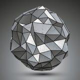Szpotawy kruszcowy przedmiot tworzył od geometrycznych postaci, przestrzennych royalty ilustracja