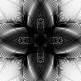 Szpotawy monochromu wzór Abstrakcjonistyczni geometryczni zniekształcający elemen ilustracji