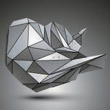 Szpotawy ostry kruszcowy przedmiot tworzył od geometrycznych postaci ilustracja wektor