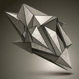Szpotawy ostry zink przedmiot, kontrastuje cybernetycznego faseta element ilustracja wektor