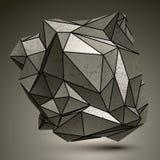 Szpotawy skomplikowany kruszcowy 3d abstrakcjonistyczny przedmiot royalty ilustracja
