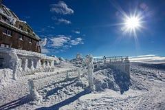 Szrenica - bergherberg in Reuzebergen royalty-vrije stock afbeelding