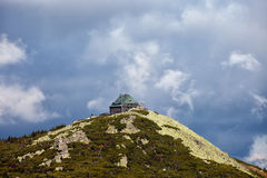 Szrenica Mountain Summit With Shelter In Poland Stock Image