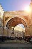 Sztaba Generalnego łuk na pałac kwadracie w Petersburg, Rosja zdjęcie stock