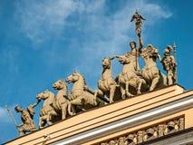 Sztaba Generalnego budynek na pałac kwadracie Jeden symbole Świątobliwy Petersburg Architektura święty Petersburg obrazy royalty free