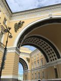Sztaba generalnego budynek w świętym Petersburg Zdjęcie Stock