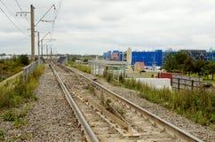 Sztachetowa droga w mieście Obraz Stock