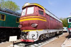 Sztachetowej drogi lokomotywa Zdjęcie Stock