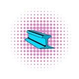 Sztachetowej linii ikona, komiczka styl ilustracji