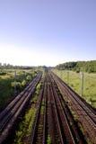 sztachetowi linii kolejowej drogi ślada Obrazy Royalty Free