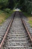 Sztachetowy kolejowego śladu linii kolejowej transport logistycznie Obrazy Royalty Free