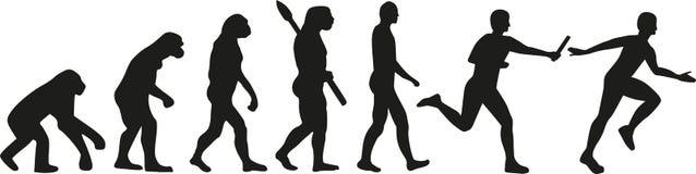 Sztafetowa ewolucja ilustracja wektor