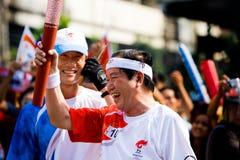sztafetowa pochodnia olimpijska zdjęcie stock
