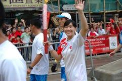 sztafetowa pochodnia olimpijska Fotografia Royalty Free