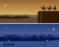 sztandarów Bethlehem boże narodzenia ilustracji