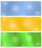 sztandarów bożych narodzeń odosobniony set Obraz Royalty Free
