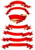 sztandarów czerwieni set ilustracji