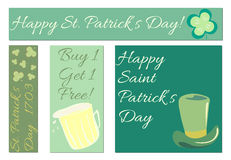 sztandarów dzień Patrick s st Fotografia Royalty Free