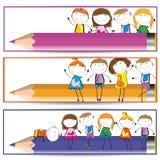 sztandarów dzieciaki Zdjęcie Royalty Free