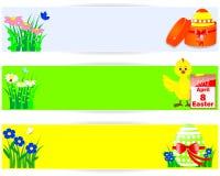 sztandarów Easter horyzontalny set Zdjęcia Stock