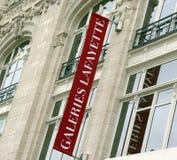 Sztandarów galeries Lafayette Zdjęcia Stock