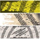 sztandarów grunge opony ślada ilustracji