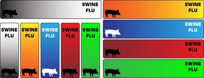 sztandarów grypy chlewnie Zdjęcie Stock