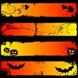 sztandarów Halloween horyzontalny set ilustracja wektor