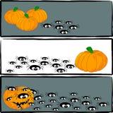 (1) sztandarów Halloween ilustracyjny część wektor Ilustracja Wektor