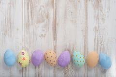 Sztandarów jajek kopii fotografia Malująca barwiąca przestrzeń Obraz Stock