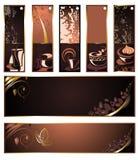 sztandarów kawowego setu herbaty wektor Obrazy Royalty Free