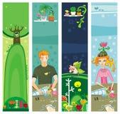sztandarów kolorowy copyspace lato royalty ilustracja