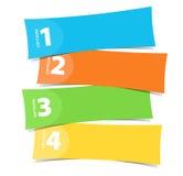 sztandarów koloru dekoracyjnego projekta graficzny ilustraci wektor Obrazy Royalty Free