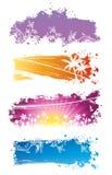 sztandarów koloru setu wektor Zdjęcia Royalty Free
