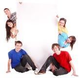 sztandarów ludzie grupowi szczęśliwi Zdjęcia Stock