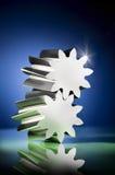 sztandarów metalu ustaleni gwiazd typ różnorodni Zdjęcie Royalty Free