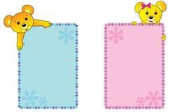 sztandarów niedźwiedzi miś pluszowy ilustracja wektor