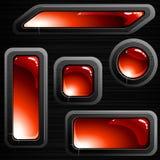 sztandarów oczyszczona guzików czerwieni stal ilustracji