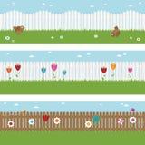 sztandarów ogrodzenia palik Obraz Royalty Free